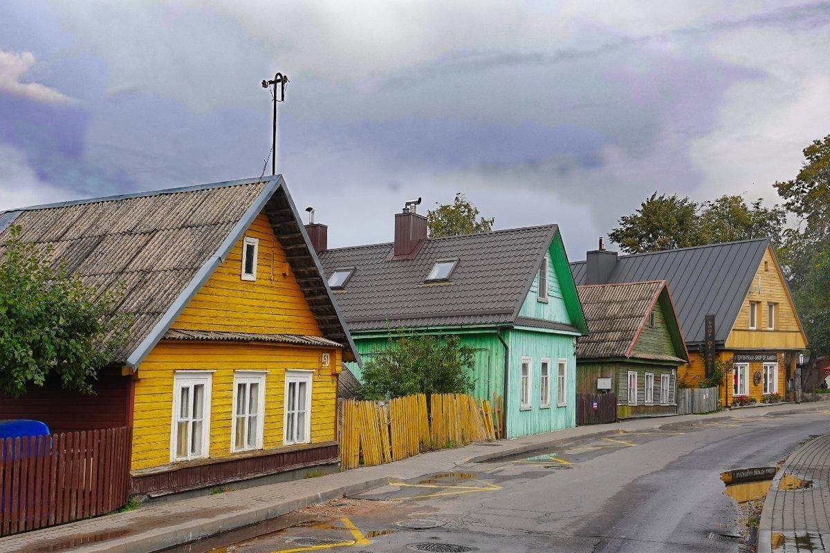 Die bunten Häuser der Karäer