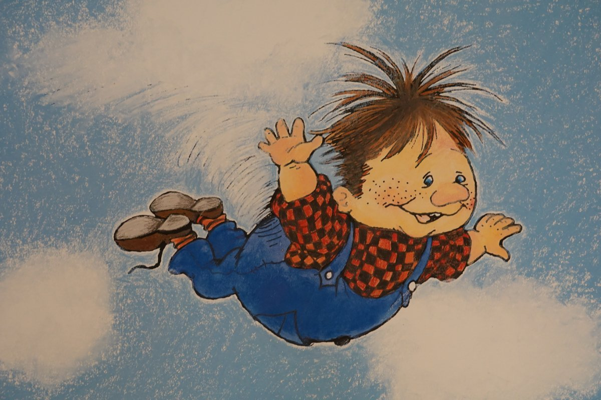 Karlsson vom Dach, gezeichnet von Ilon Wikland