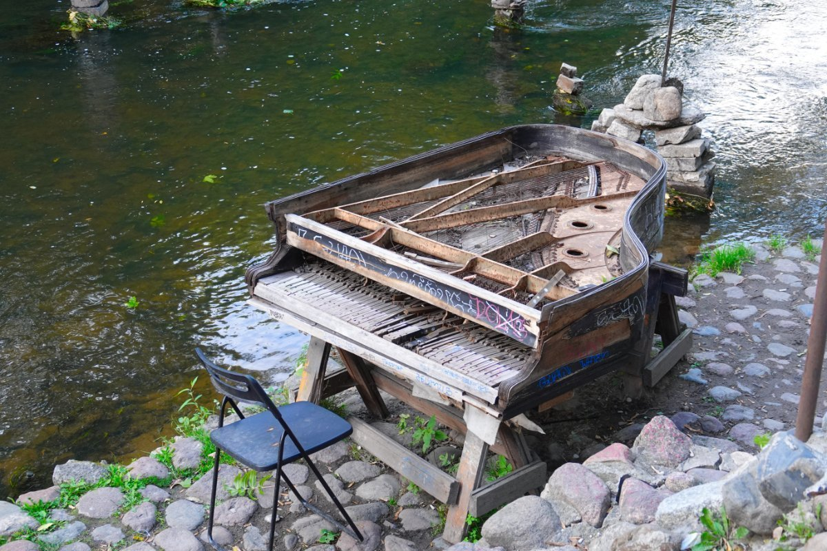 Kunst am Fluss in Uzupis