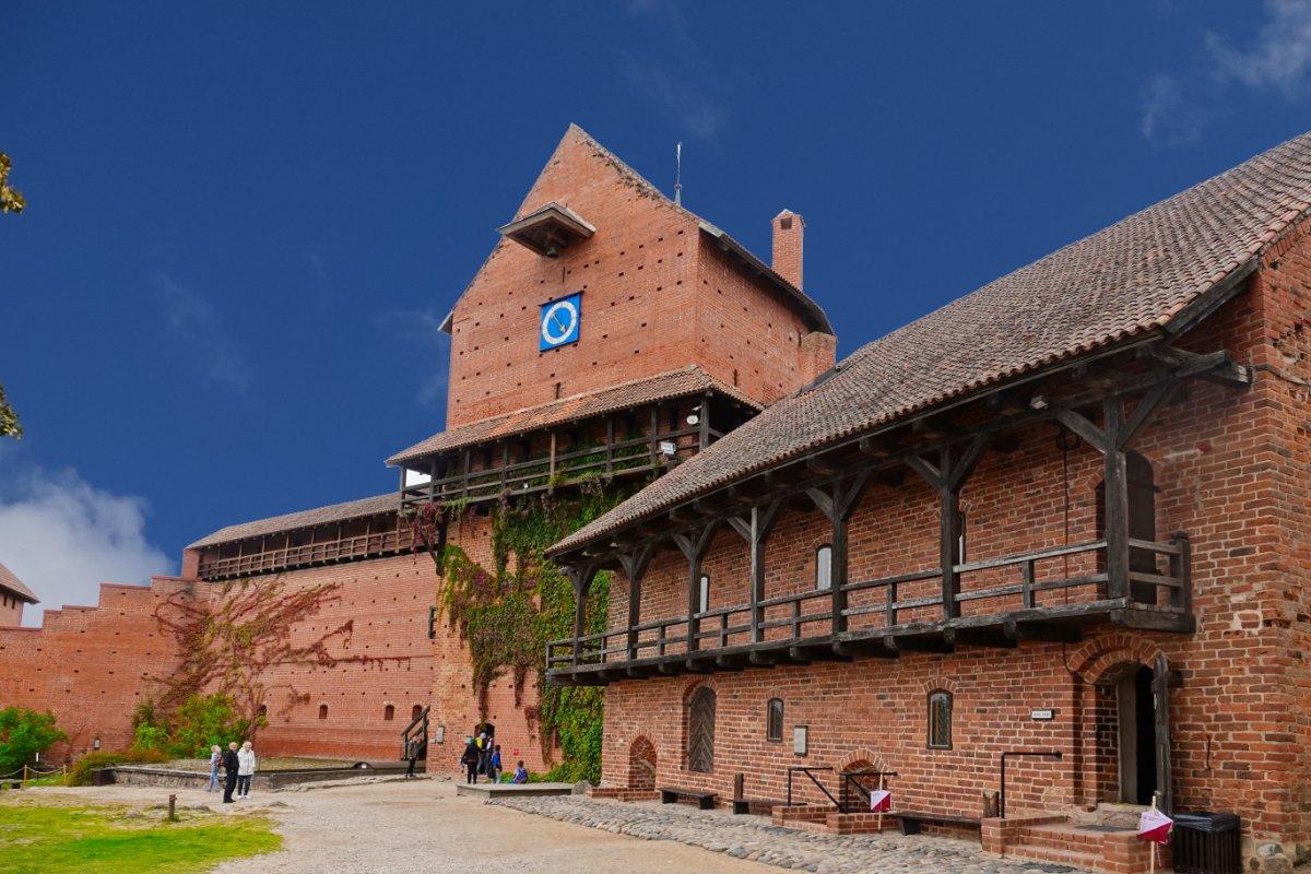 Ein noch gut erhaltener Teil der Burg