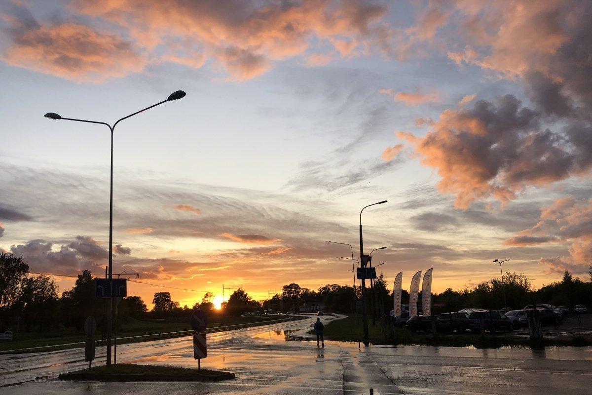 Sonnenuntergang in Daugavpils