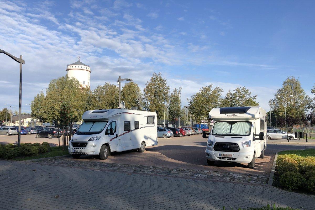 Kommunaler Stellplatz in Cesis