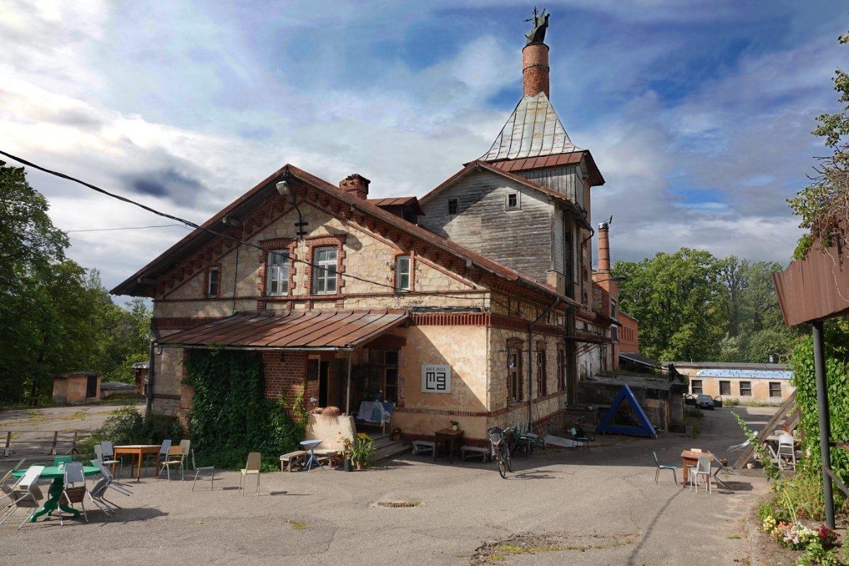 Stillgelegte Alte Brauerei in Cesis