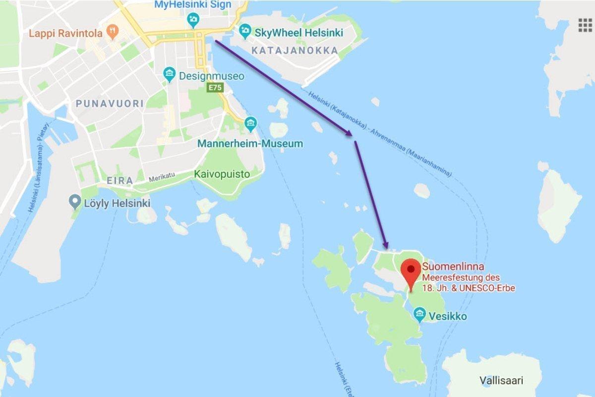 Fahrt zur Insel Suomenlinna