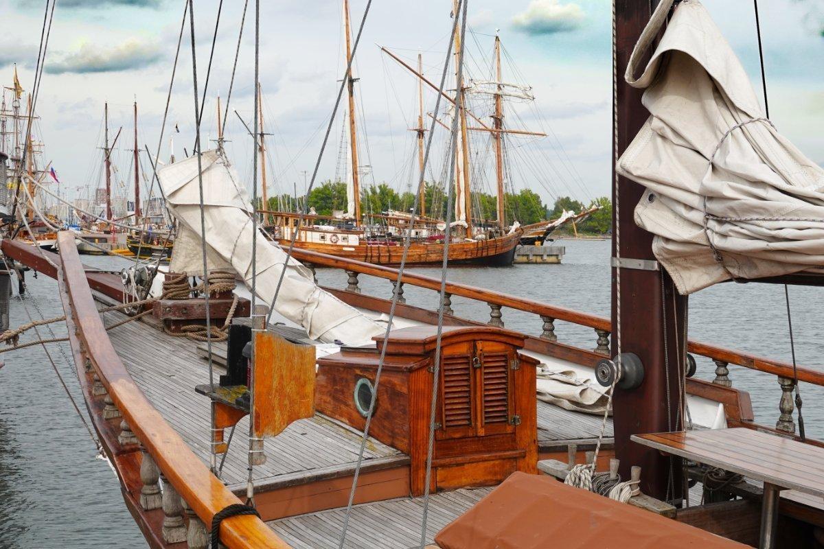 Traditionssegler im Helsinki Hafen