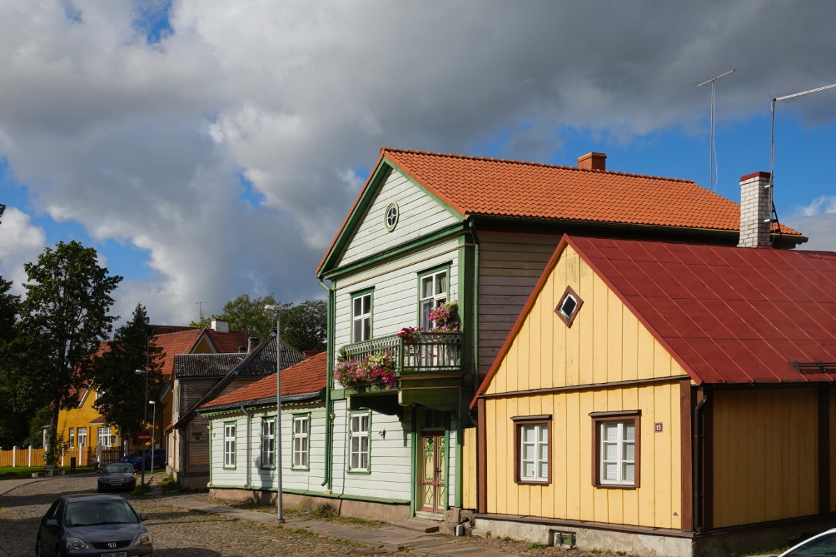 Renovierte Holzhäuser in der Altstadt