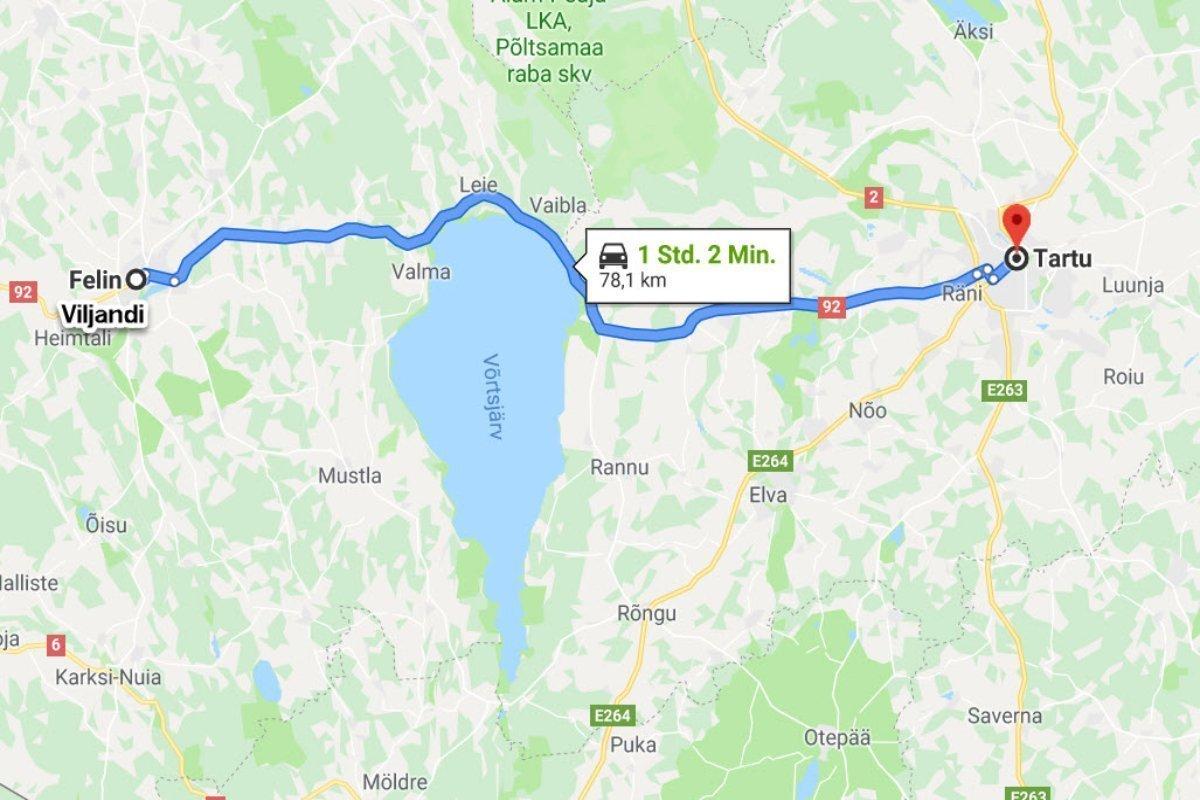 Viljandi - Tartu