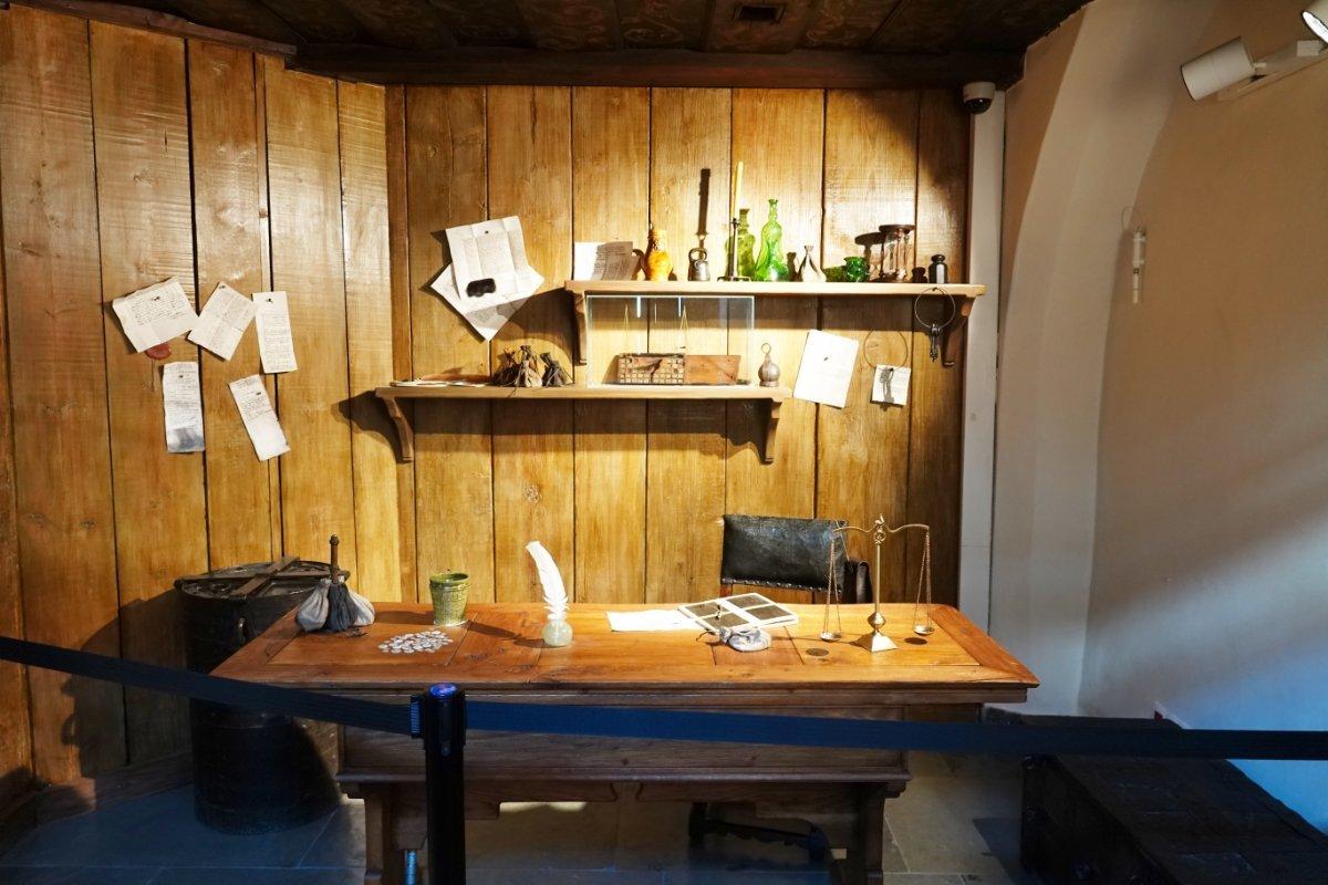 Arbeitszimmer von Kopernikus im Museum
