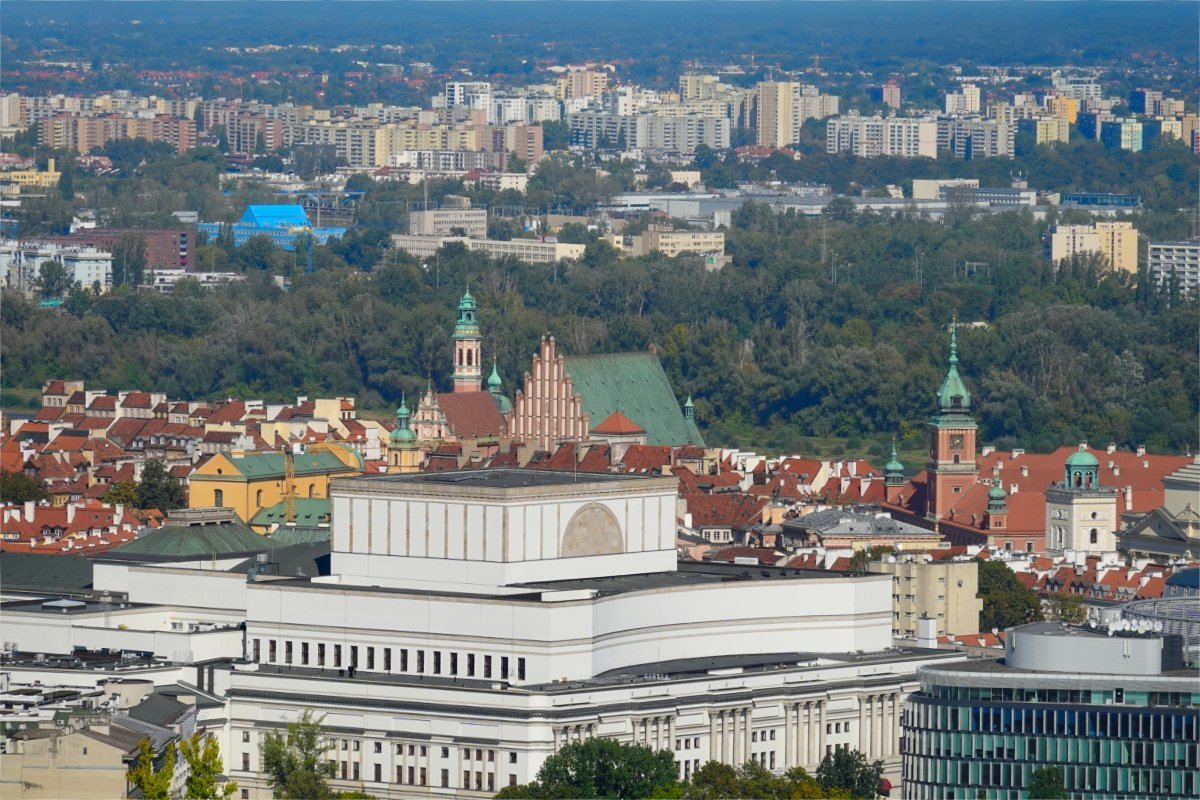 Blick vom Kulturpalast auf die Altstadt