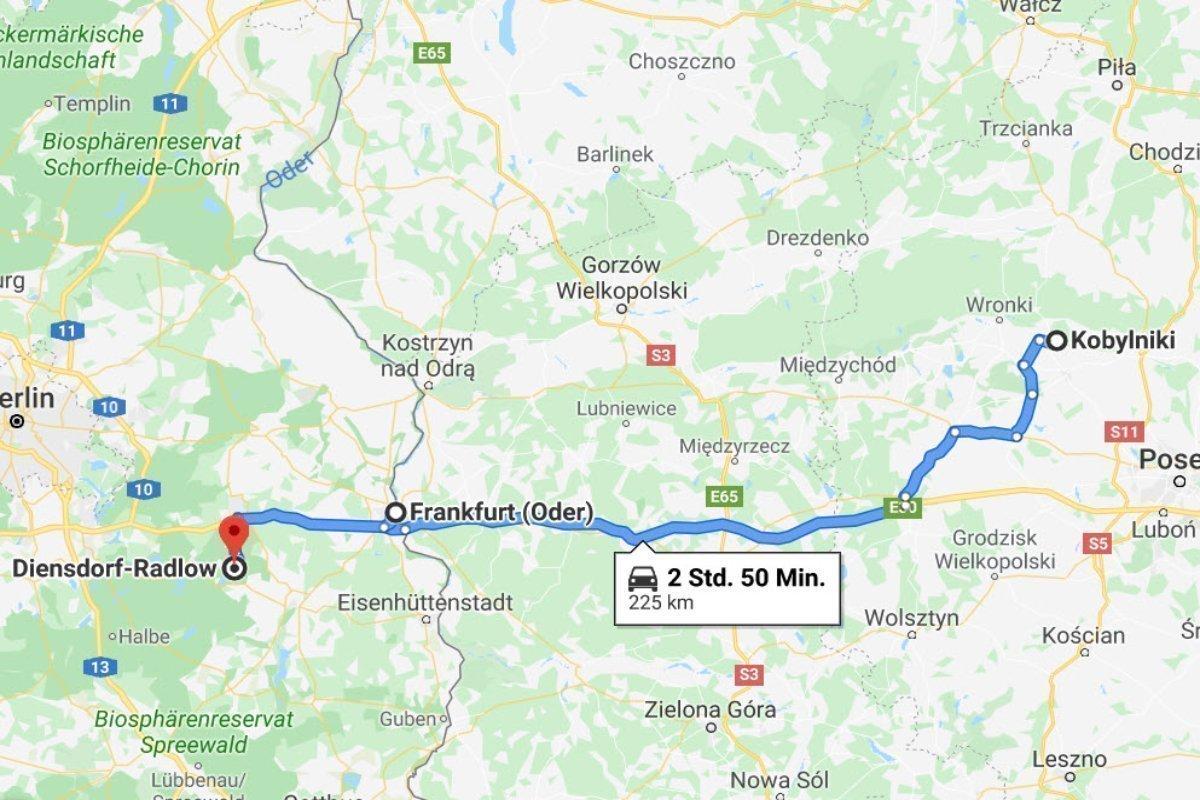 Kobylniki - Frankfurt (Oder) - Diensdorf