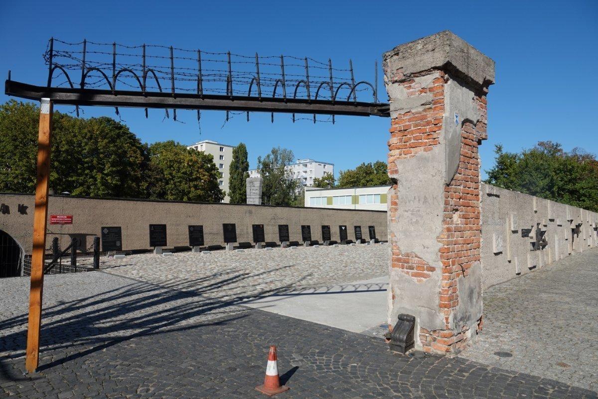 """Mahnmal an das Gestapo-Gefängnis """"Pawiak"""""""
