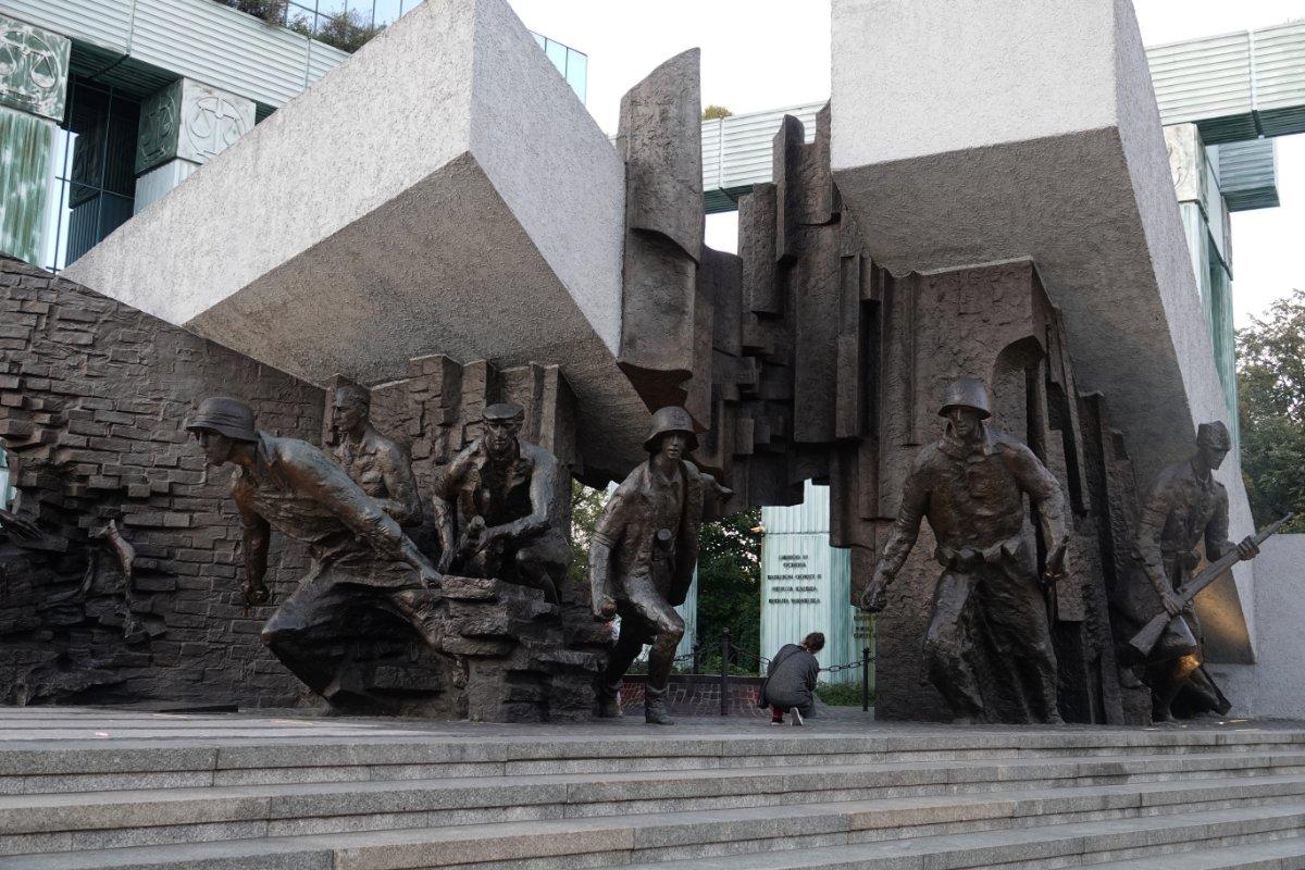 Mahnmal zum Gedenken an den Warschasuer Aufstand 1944