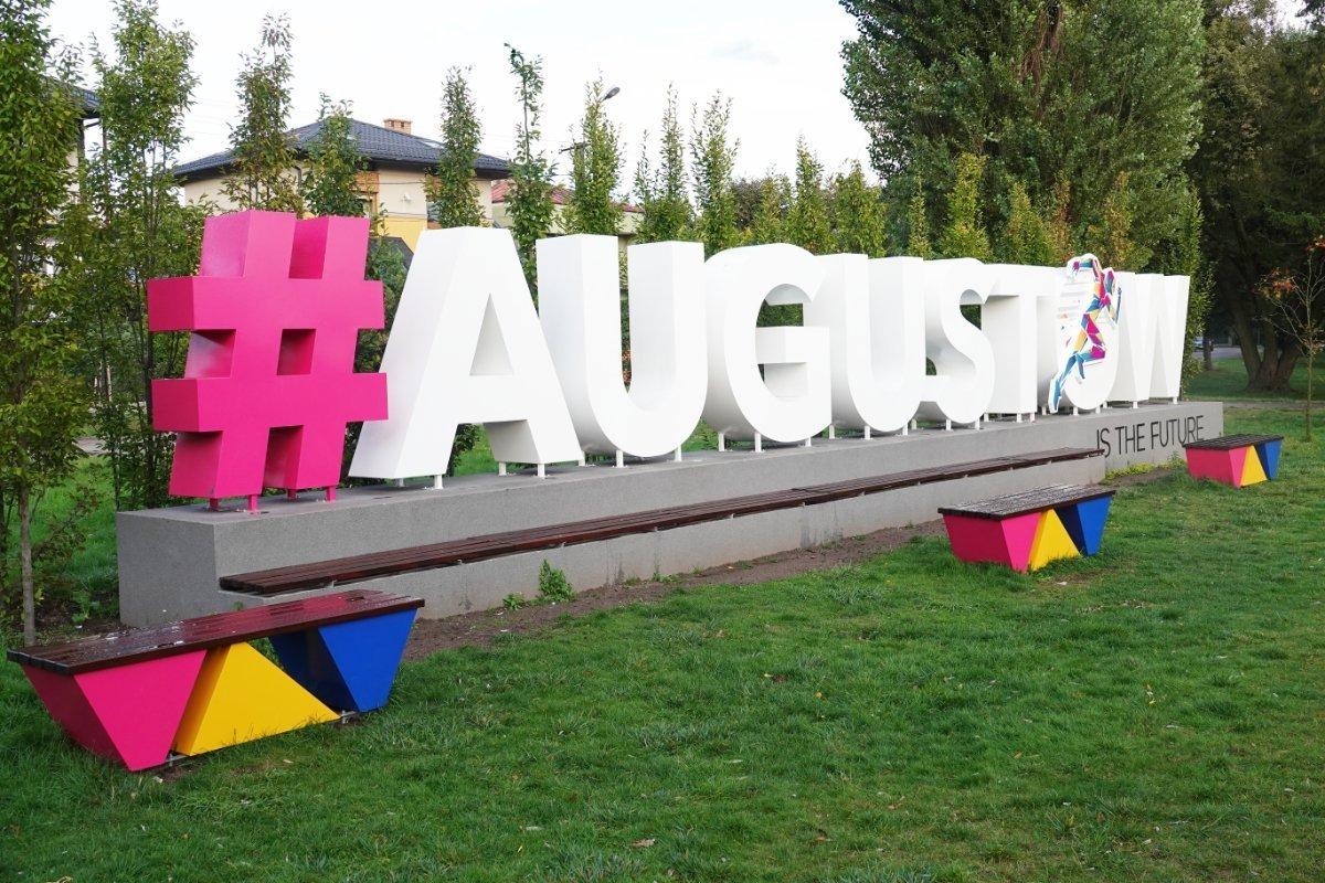 Touristische Werbung für Augustow