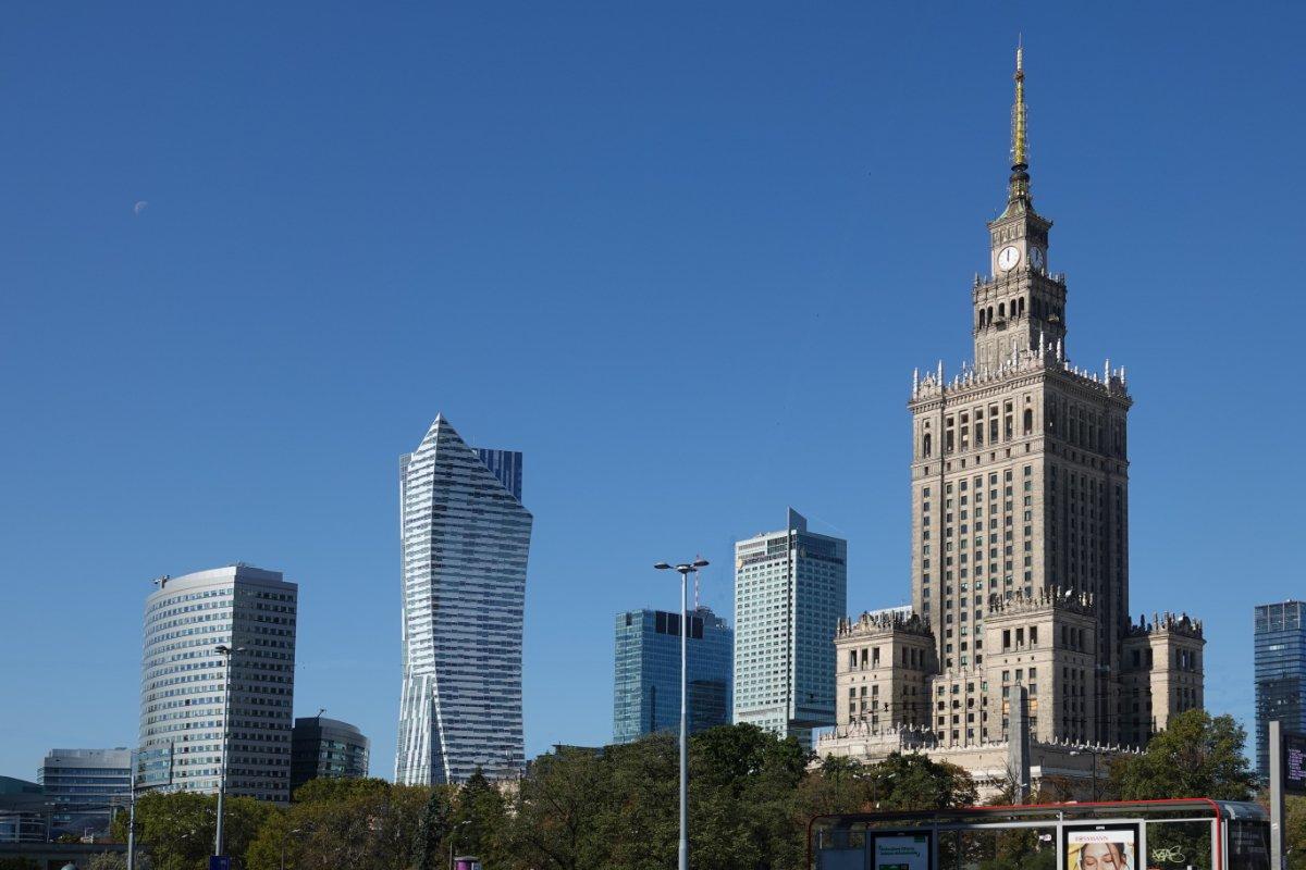 Skyline, dominiert vom Kulturpalast