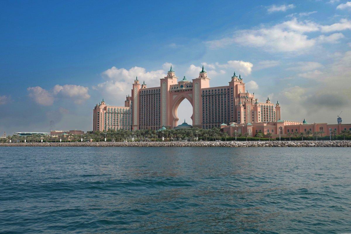 Palm Atlantis Resort und Hotel auf der Palm Jumeirah Insel