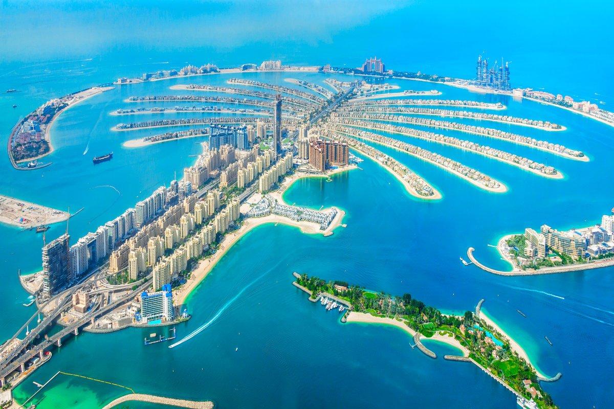 Dubai Palm Jumeirah Insel