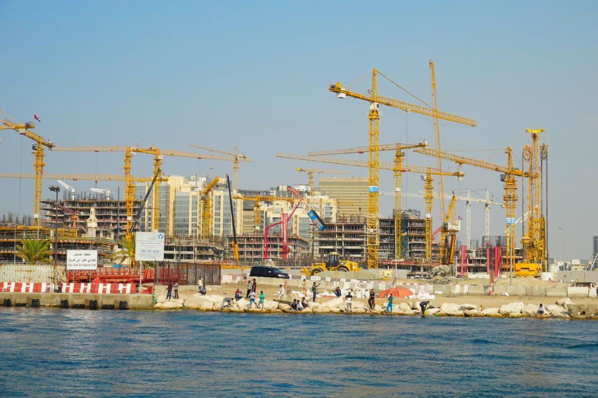 Riesige Baustelle im Stadtteil Deira