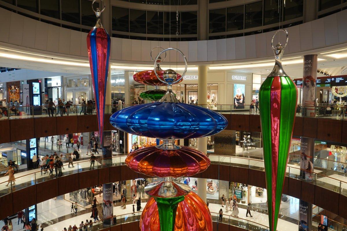 Weihnachts-Deko in der Dubai Mall