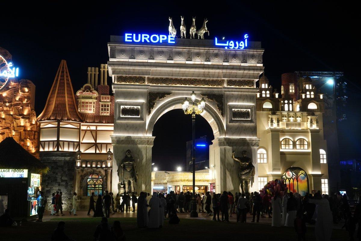 Europäischer Pavillon im Global Village