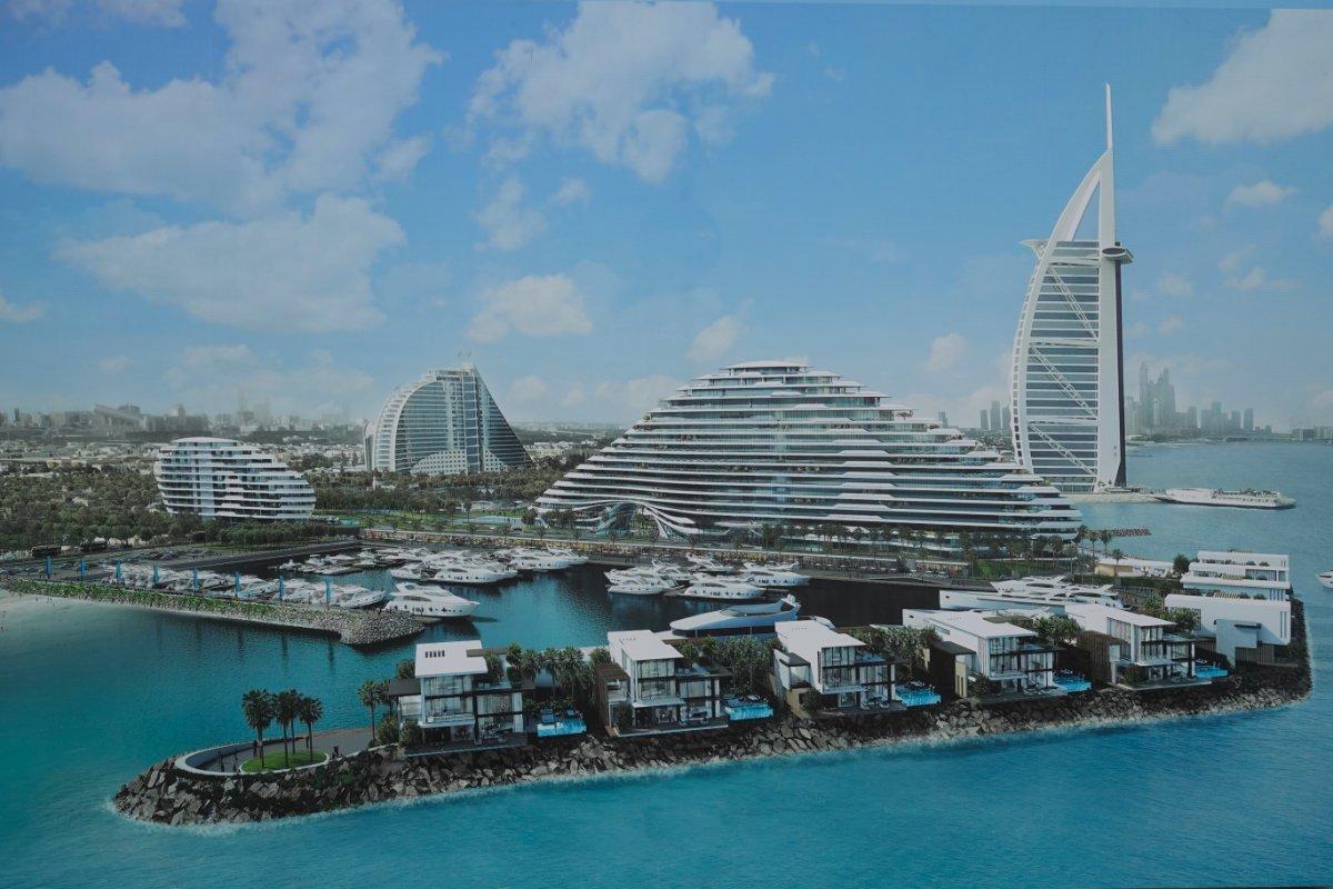Künstlerische Darstellung der Erweiterung des Jumeirah Resorts