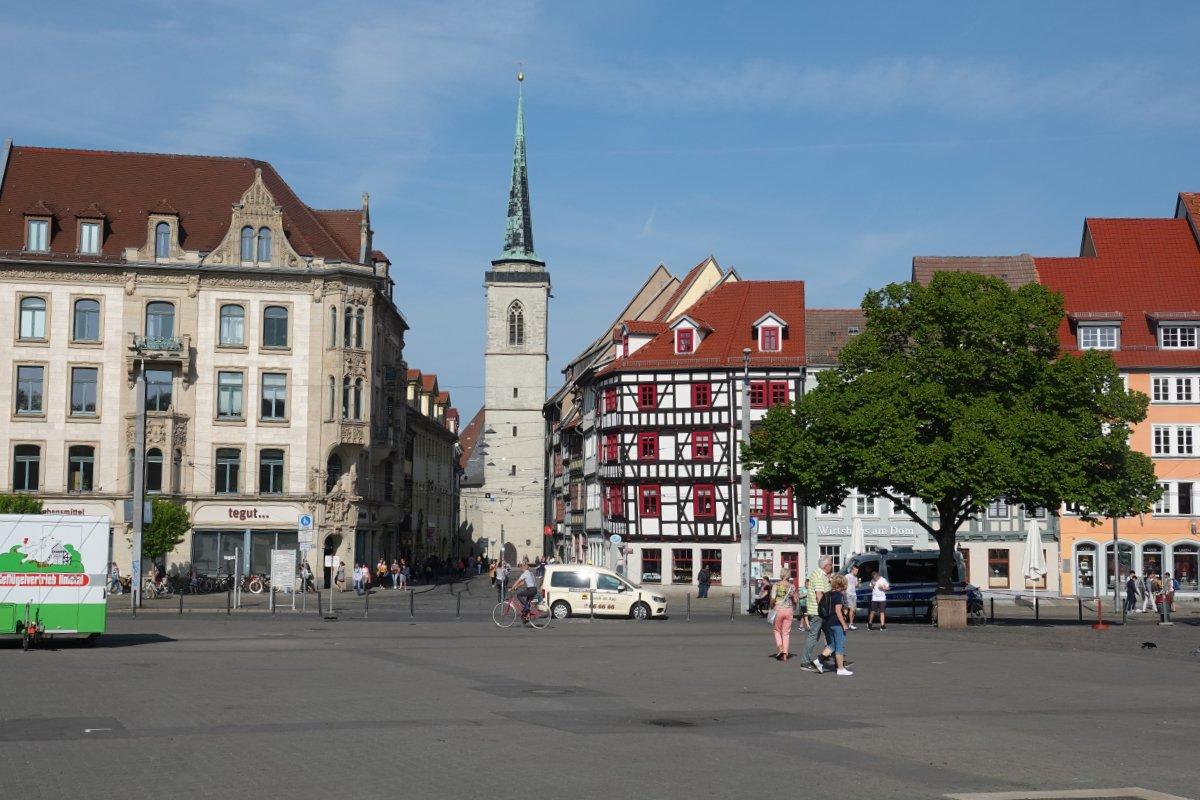 Altstadt und Domplatz in Erfurt