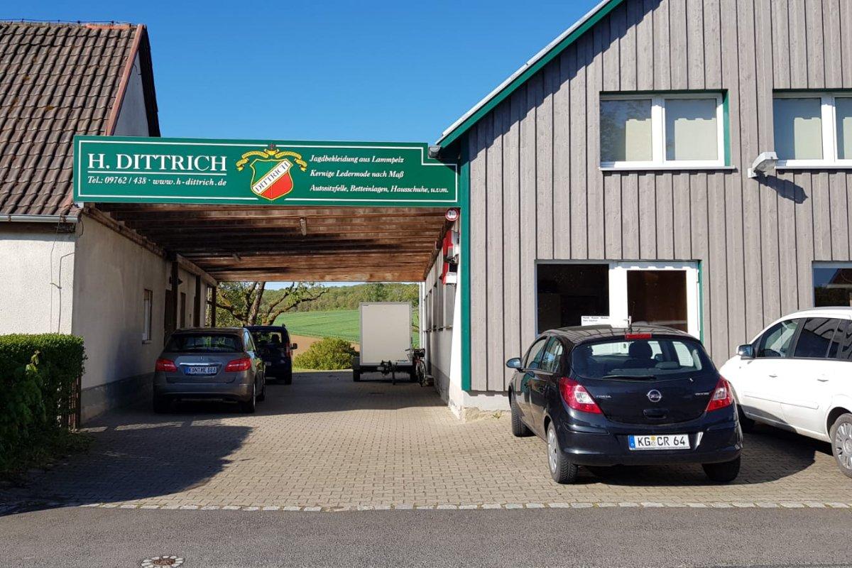 Das Gebäude der Firma H. Dittrich