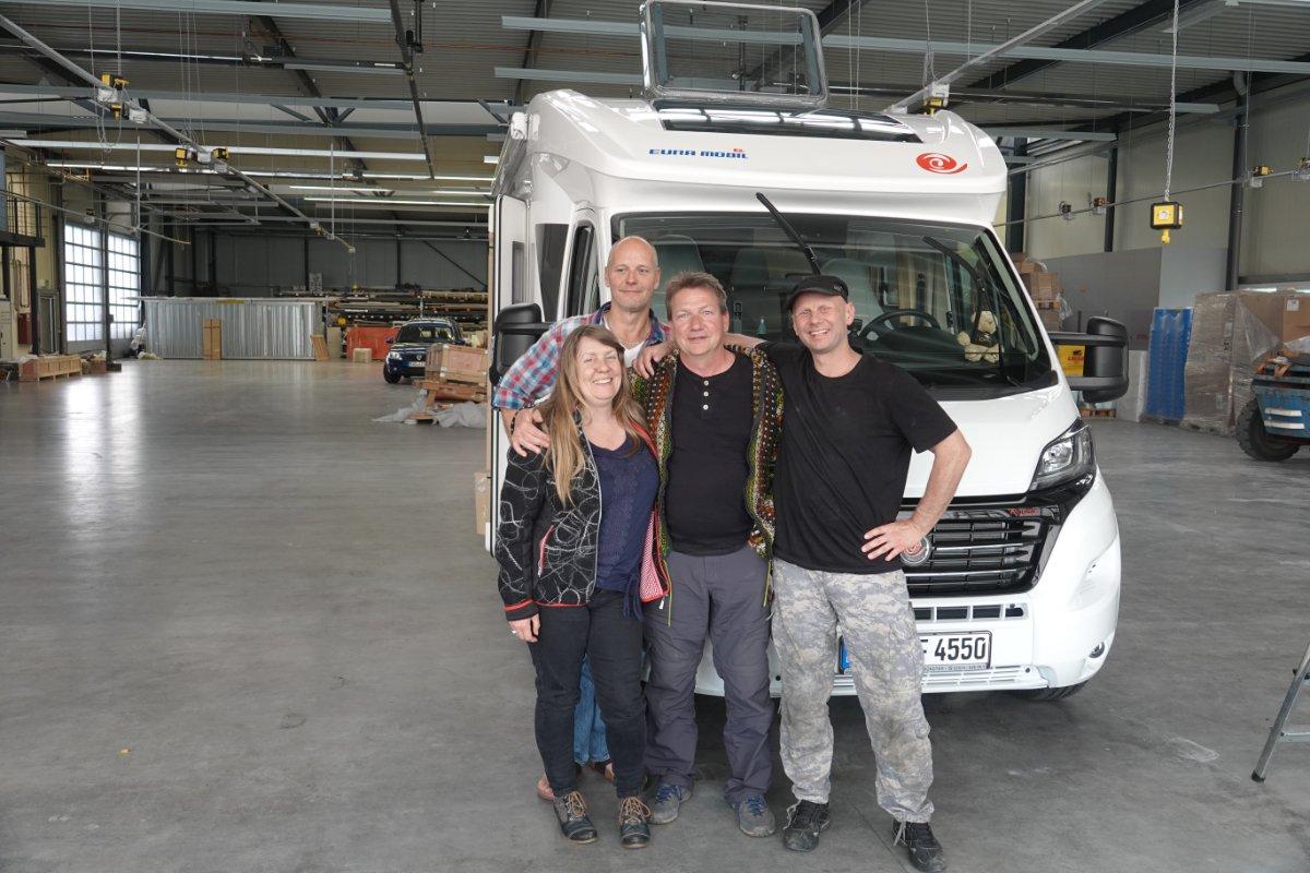 Karsten und Susanne Sturm, Kai-Uwe (hinten) und Sigi
