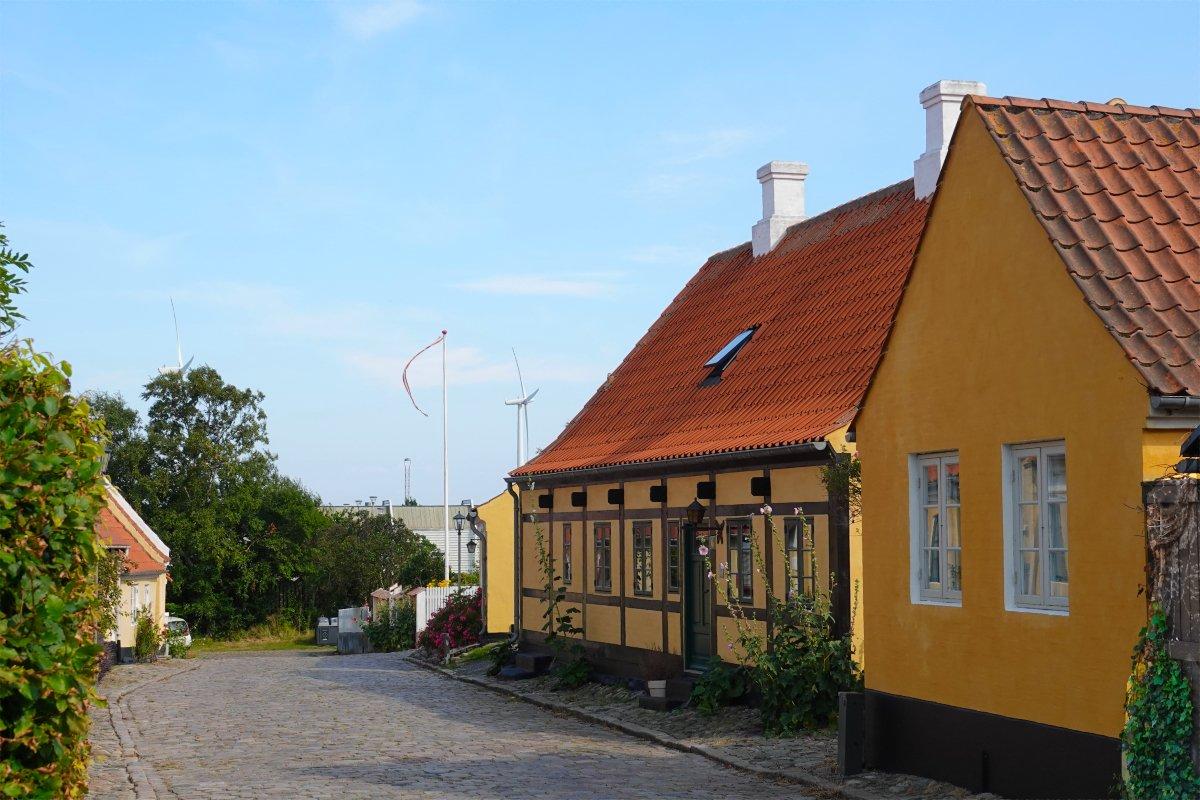"""Häuser im Fischerviertel """"Fiskerklyngen"""""""