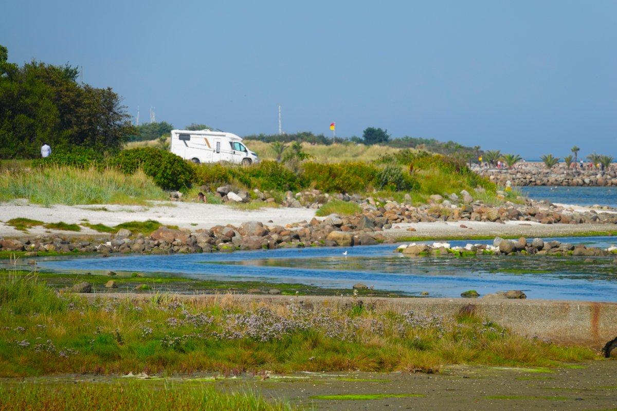 Parkplatz an der Küste bei Frederikshavn