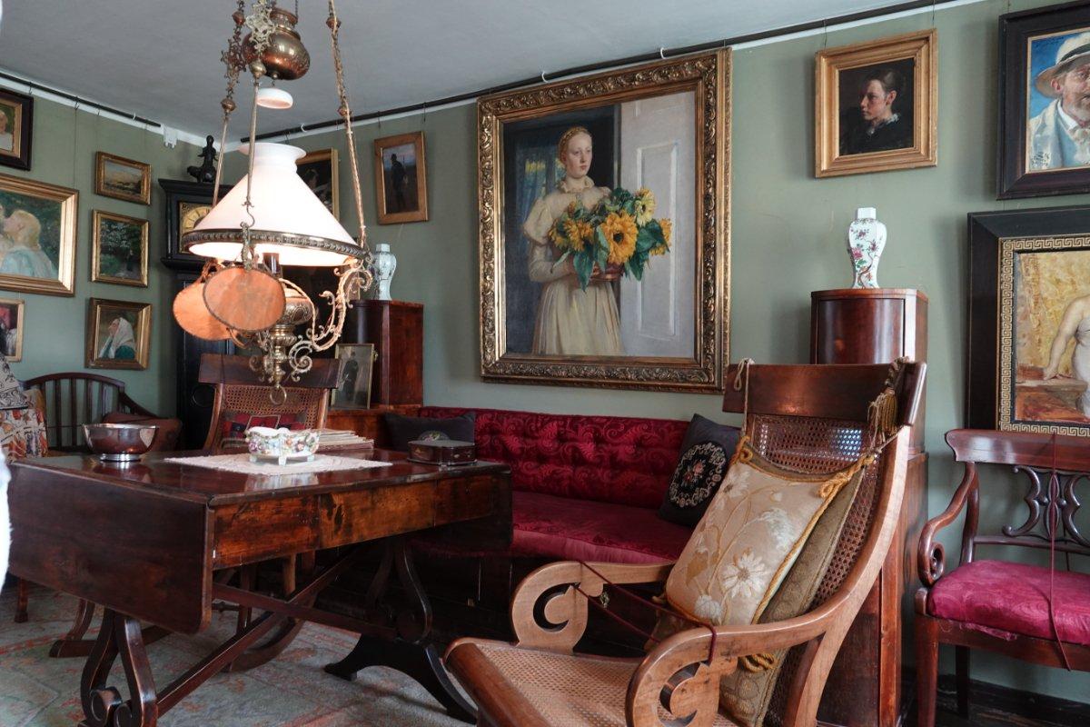 Prunkvoller Salon im Ancher Haus