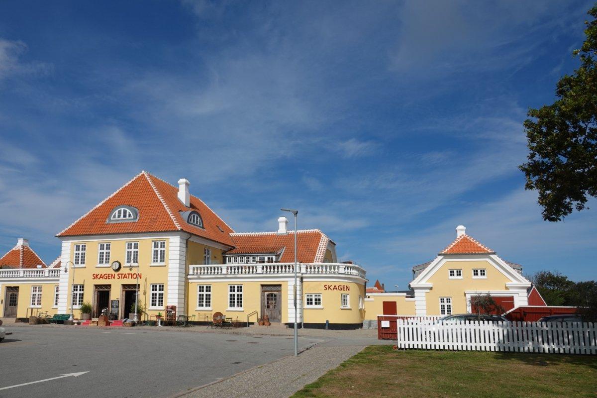 Skagen Bahnhof (heute eine Vinothek)