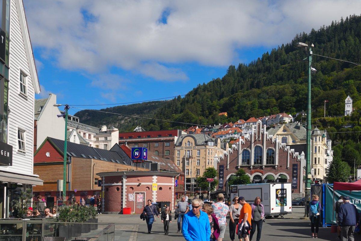 In der Altstadt von Bergen