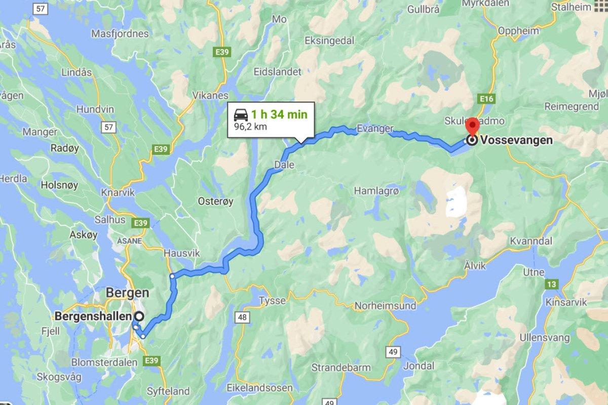 Bergen - Vossevangen