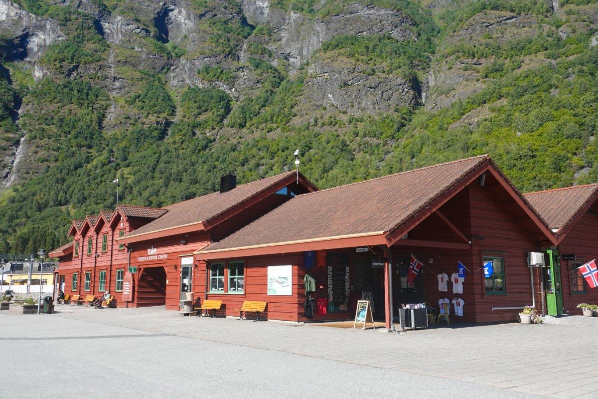 Flåm Touristzentrum und Souvenir-Shop