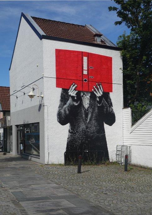 Lustige Wandmalerei