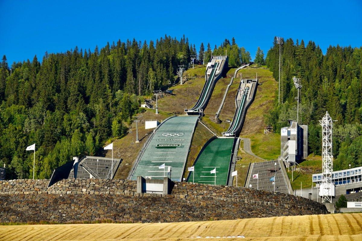Olympische Skispringanlage in Lillehammer