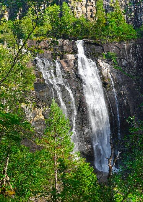 Skjervsfossen Wasserfall