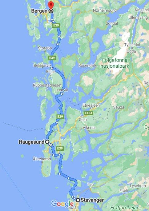 Stavanger - Bergen
