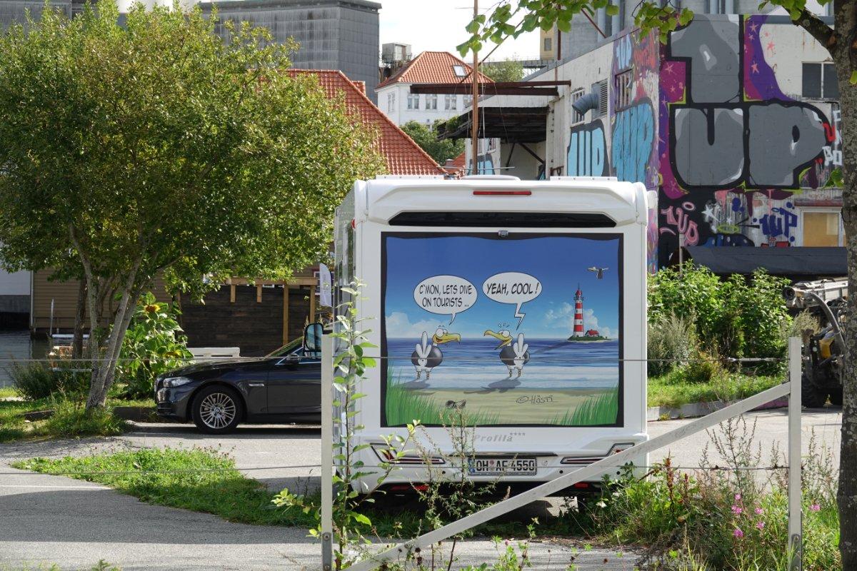 Unser Stellplatz in Stavanger