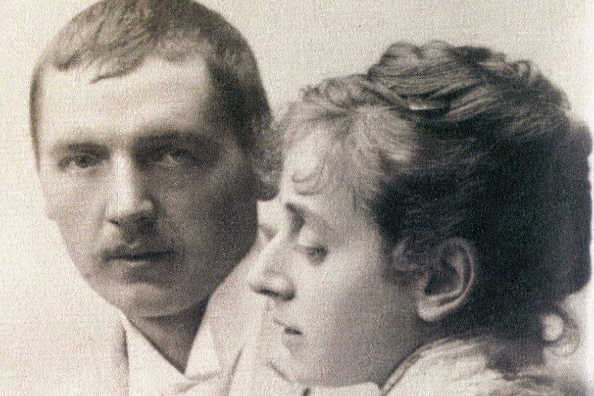 Der junge Anders Zorn und seine Frau Emma