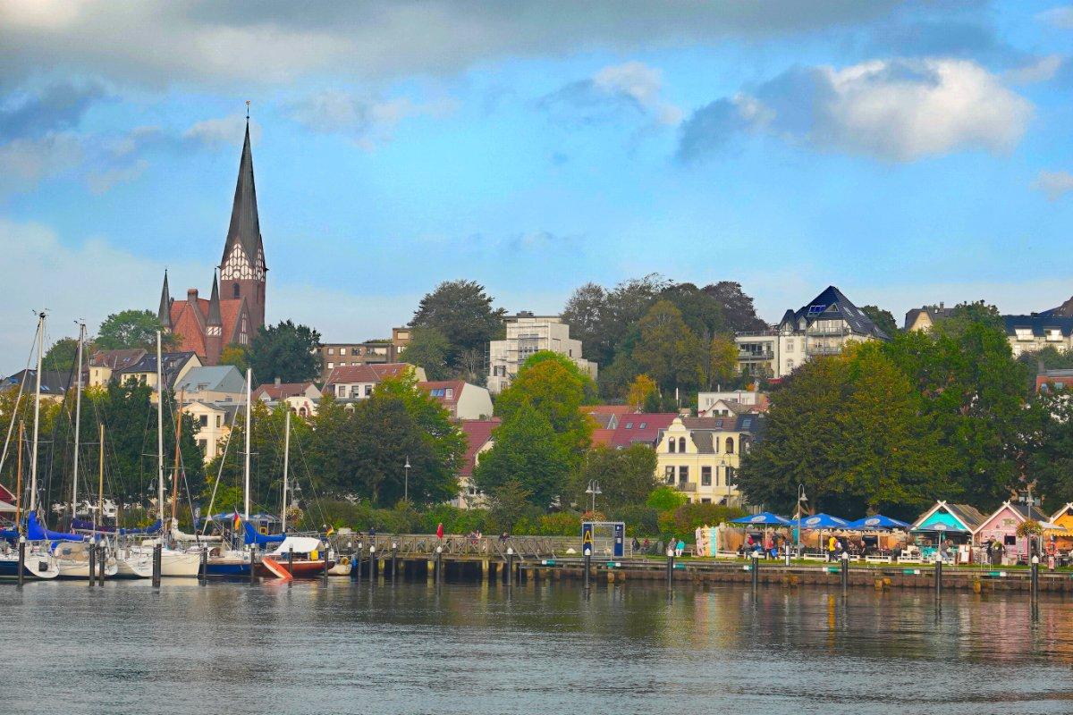 Blick auf das Ostufer der Flensburger Förde