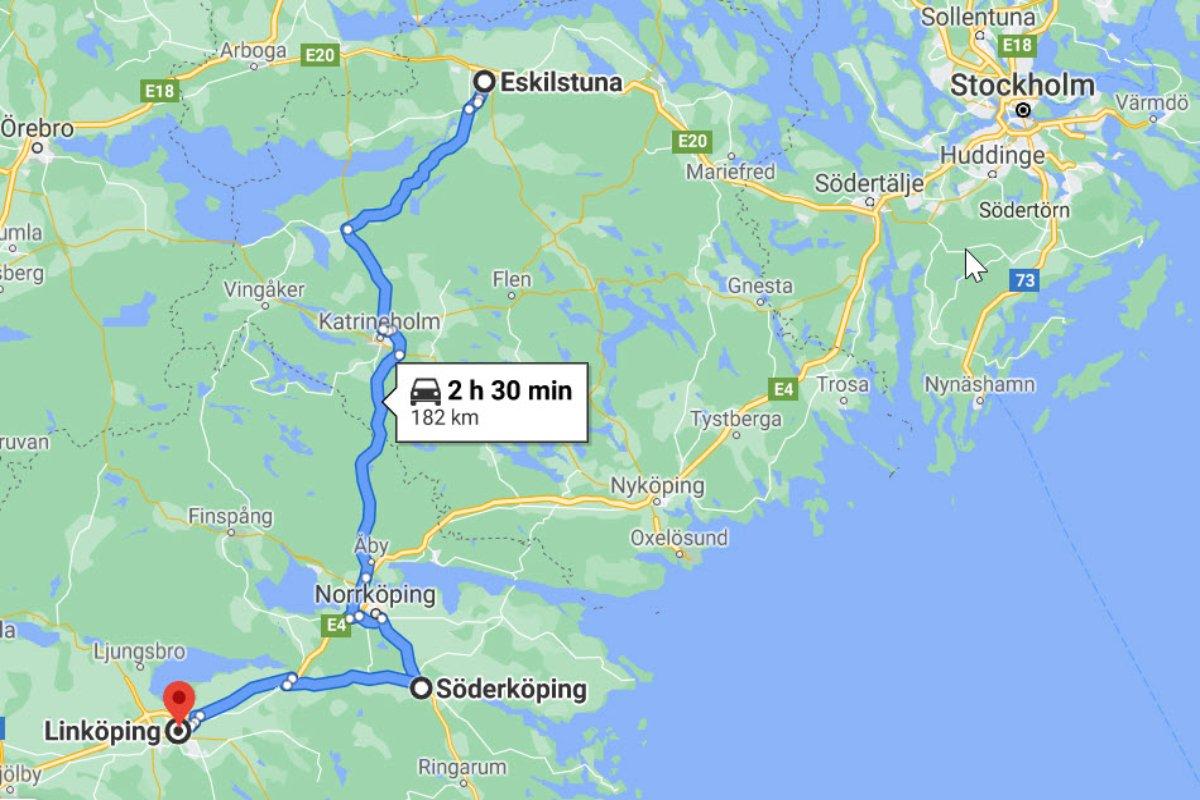 Eskilstuna - Söderköping - Linköping