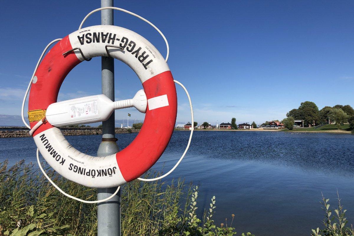 Gränna Lagune und Hafen