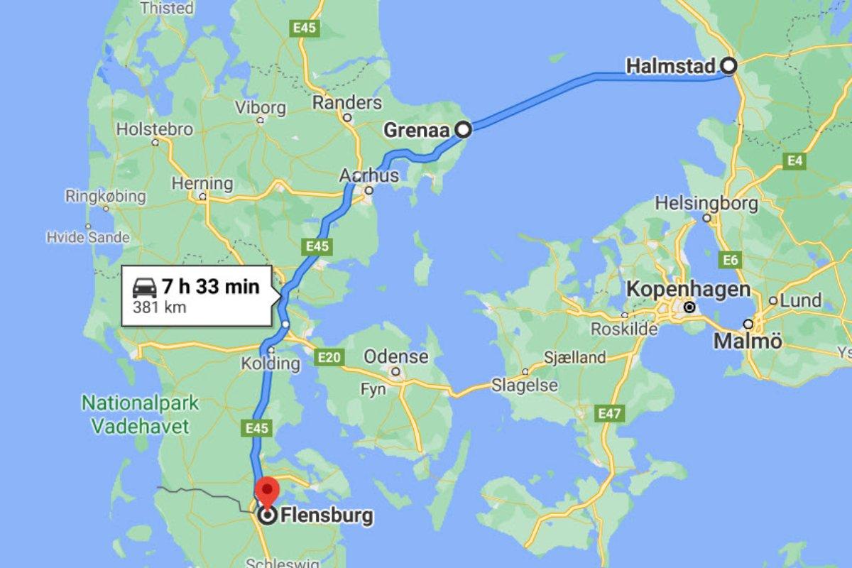 Halmstad - Grenaa - Flensburg