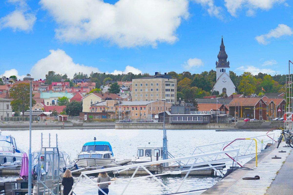 Hudiksvall und Stadtzentrum