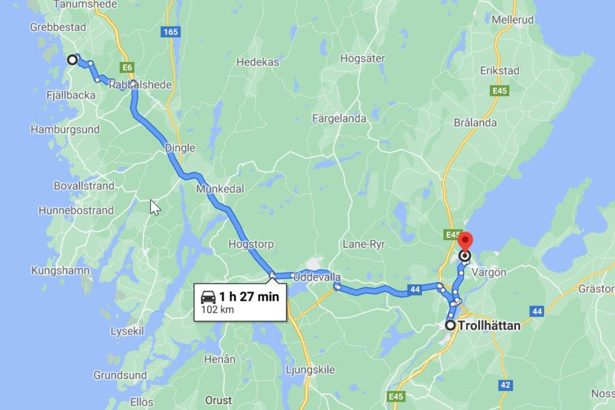 Kämpersvik - Trollhättan - Vänersborg