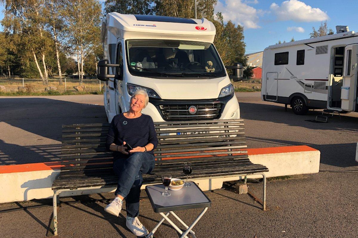 Letzter Abend in Schweden auf dem Stellplatz in Halmstad