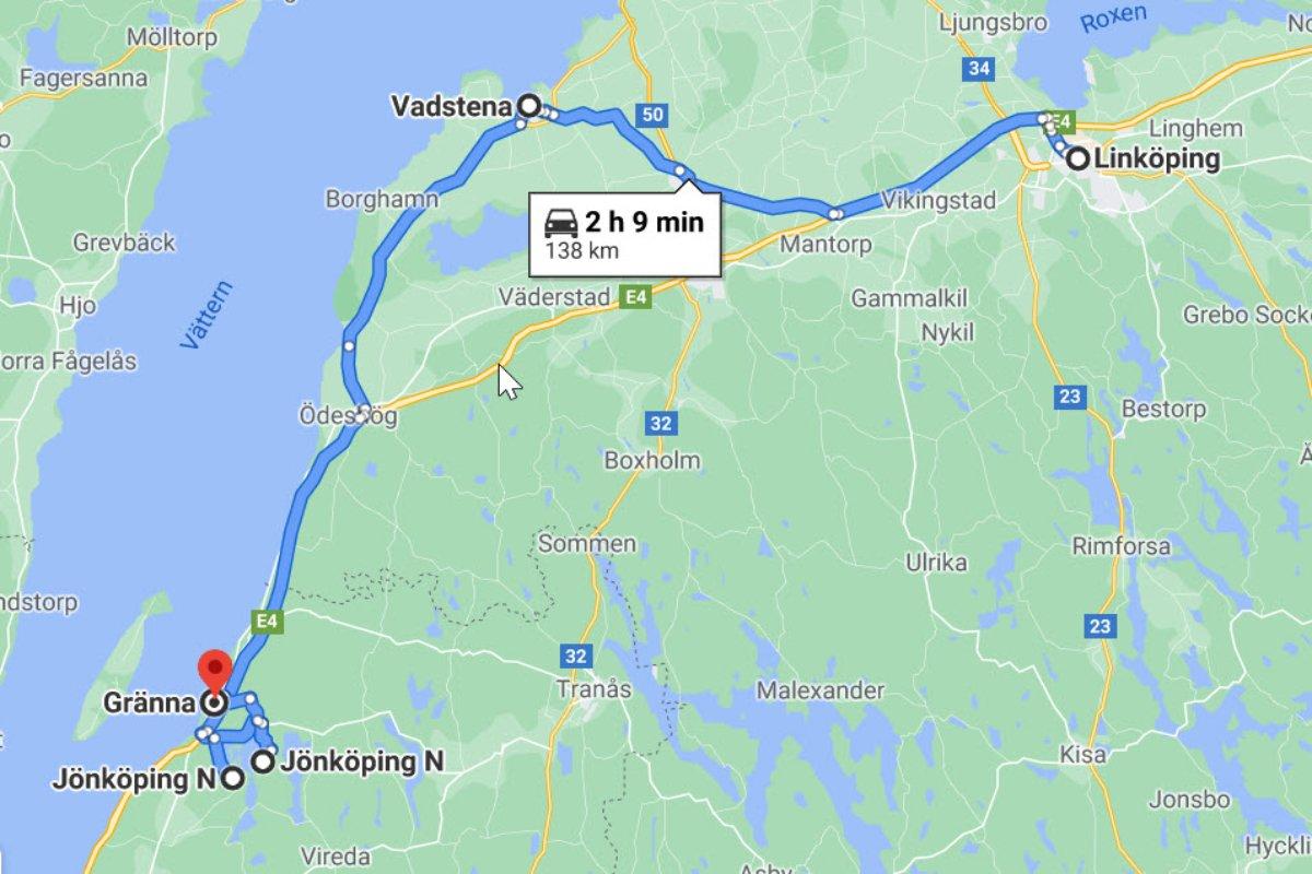 Linköping - Vadstena - Gränna