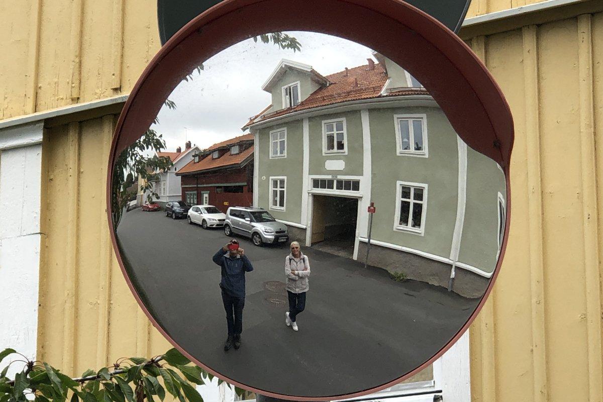 Lustiger Spiegeleffekt
