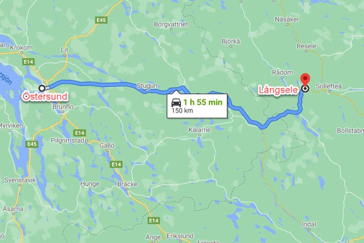 Östersund - Långsele